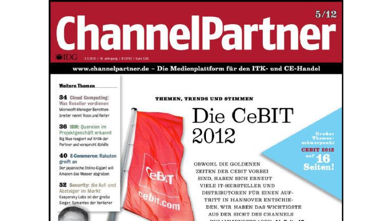 Titelseite der ChannelPartner-Ausgabe 5/12