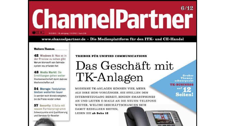 Titelseite der ChannelPartner-Ausgabe 6/12