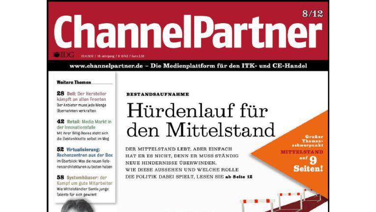 Titelseite der ChannelPartner-Ausgabe 8/12
