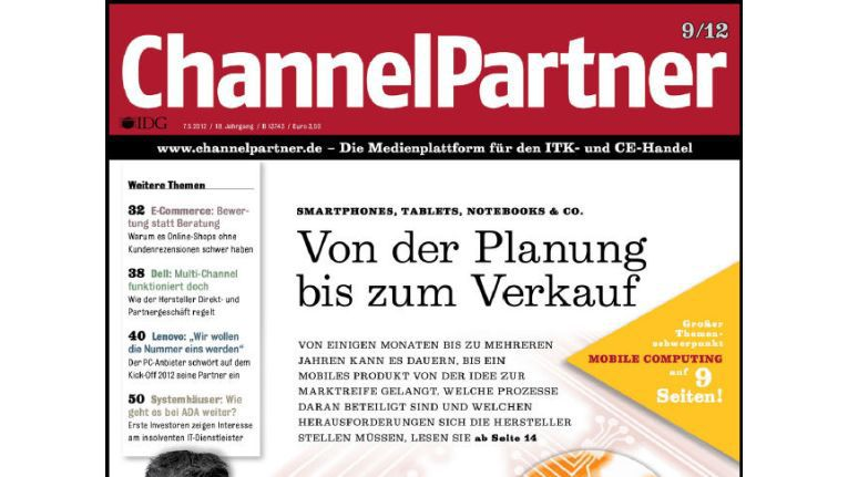 Titelseite der ChannelPartner-Ausgabe 9/12