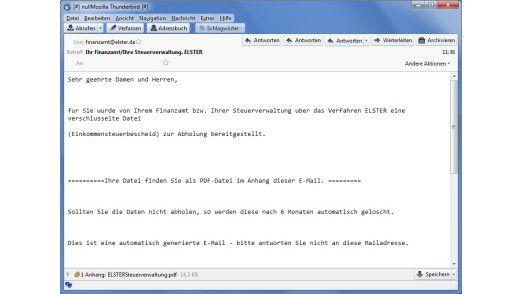 Beispiel für einen gefährlichen E-Mail-Anhang