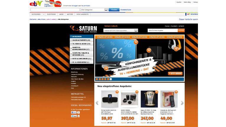 Saturn Lübeck bei Ebay – einer von bisher 12 Ebay-Shops des Retailers