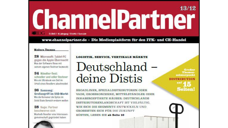 Titelseite der ChannelPartner-Ausgabe 13/12