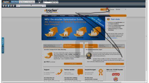 Verfolgung: Mit einer Mouse-Tracking-Software kann man sehen, wie sich eine Person mit ihrer Maus über die Webseite bewegt hat.