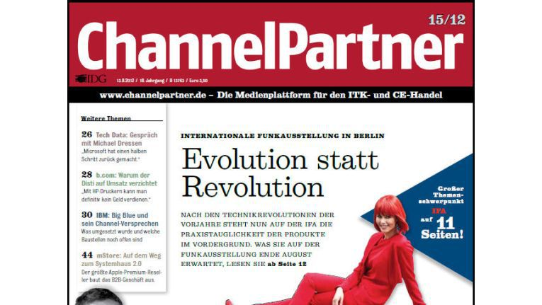 Titelseite der ChannelPartner-Ausgabe 15/12