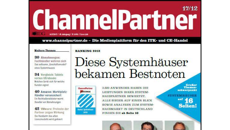 Titelseite der ChannelPartner-Ausgabe 17/12