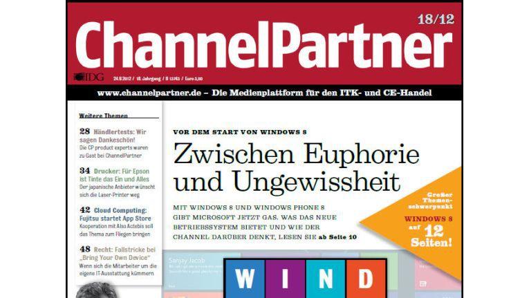 Titelseite der ChannelPartner-Ausgabe 18/12