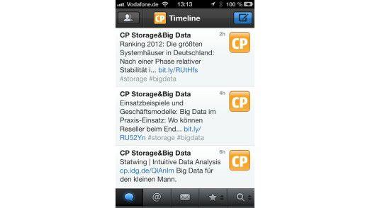 Tweetbot ist für iOS-Geräte mitunter die erste Wahl als Twitter-Client neben der vorinstallierten Twitter-App.