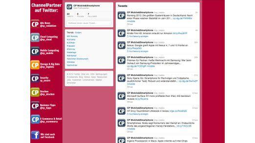 Einer der neuen Twitter-Accounts in der Browser-Ansicht.