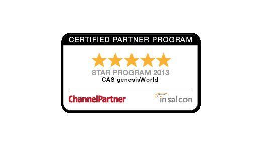 """Die besten Noten von den acht bewerteten CRM-Herstellern hat die CAS Software AG für ihr """"genesisWorld""""-Partnerprogramm erhalten."""