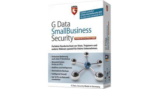 G Data Small Business Security schützt bis zu zehn Clients und kostet weniger als 200 Euro.