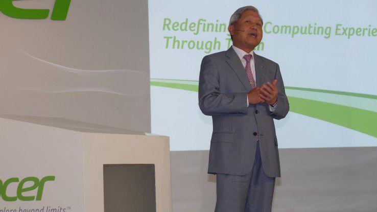 J.T. Wang ist Chairman und CEO der Acer Inc.