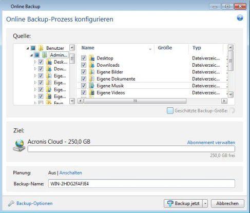 Acronis True Image in der neuen Version 2013 ist eine Backup- and Recovery-Software, die sich auch mit dem Acronis-Cloud-Speicher synchronisieren lässt. Im Bundle mit einem Jahr Cloud-Speicher kostet die Lösung rund 75 Euro.