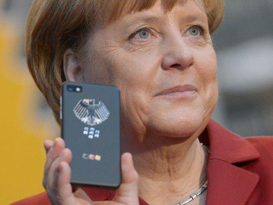 """Das """"Merkelphone"""" kommt ohne NOCs und - temporär - BES 10 aus."""
