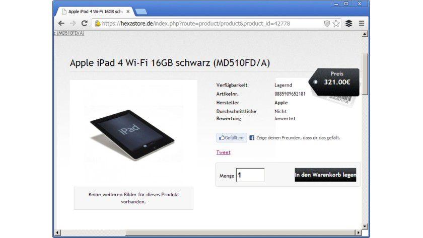 Ein iPad 4 für 321 Euro: Das vermeintliche Schnäppchen stellt sich schnell als üble Abzocke heraus.