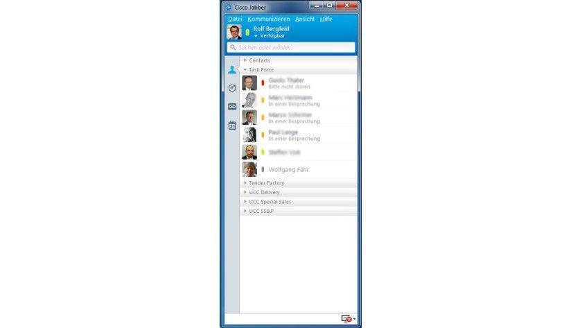 Der Jabber-Client zeigt dem Mitarbeiter an, wer im Unternehmen aktuell erreichbar ist.