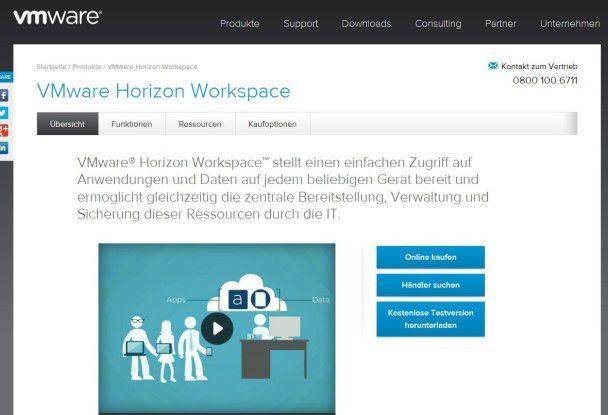 Mit der Horizon Suite kündigte VMware Anfang 2013 ihre erste Plattform an, die Desktop-Umgebungen mit allen Daten und Anwendungen auf jedem Device verfügbar machen soll.