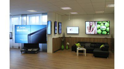 Digital Signage Showroom bei Also in Soest - Foto: Also