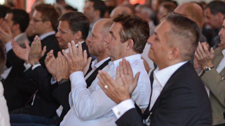 Beifall auf dem Systemhauskongress Chancen 2014 im vergangen Jahr