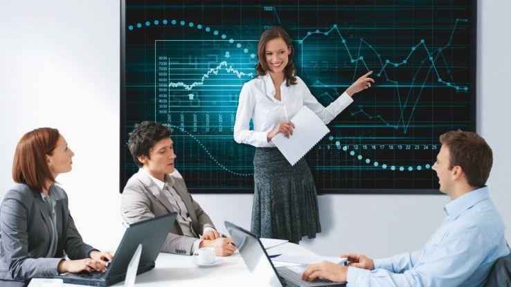 Im Konferenzraum bieten LFDs gegenüber Projektoren einige Vorteile.