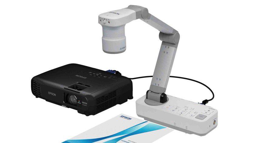 Neue EB-Projektoren mit 03-Kennung: hier mit optionaler Dokumentenkamera.