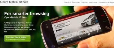 Opera Mobile 10 beta: Neuer Browser für S60-Smartphones.