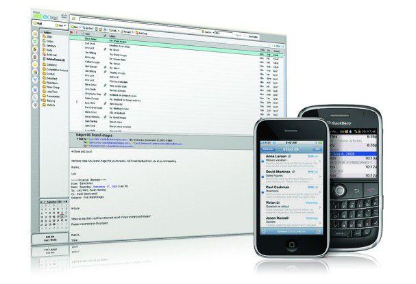 WebEx Mail lässt sich via Outlook sowie über ein Browser-Interface nutzen.