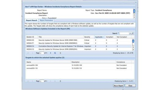 Das Patch Management unterstützt auch Windows Patches und deren Verteilung