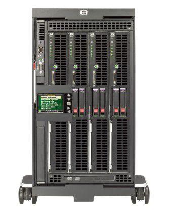 Kompakte Blade-Server haben viele Einsatzmöglichkeiten, sind aber kein Allheilmittel (Bild: HP).