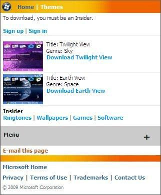 Trotz Unterstützung früherer OS-Versionen noch relativ leer: Windows Marketplace for Mobile