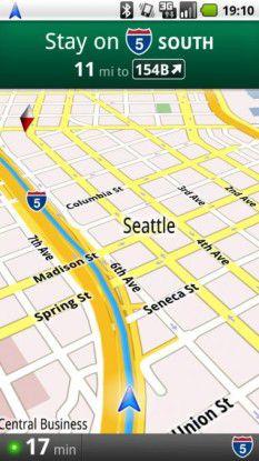 Google Maps Navigation für Android 1.6 verfügbar.