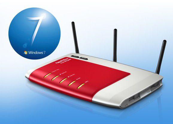 Die Fritzbox kann als zentrale Schaltstelle im Windows-7-Netz fungieren.