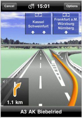 Navigon Mobile Navigator für das iPhone
