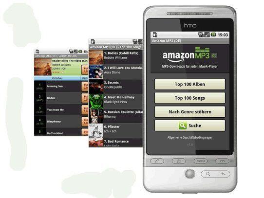 Auswahl aus über 10 Millionen Titeln: Amazon MP3 für Android