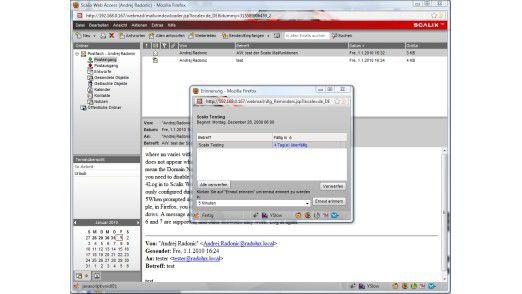 Der Web-Mail-Client von Scalix mit Kalenderfunktion.