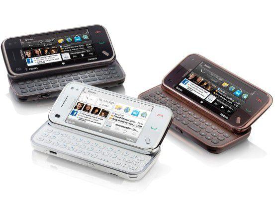 """Nokias geschrumpfter Symbian-Slider """"N97 mini"""" in drei Farbvarianten"""