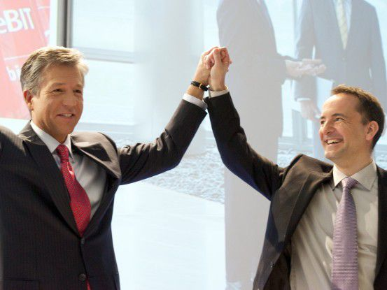 Bill McDermott und Jim Hagemann Snabe, Co-CEOs der SAP AG
