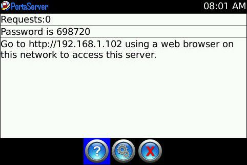 Portaserver macht den Blackberry zum Web-Server.