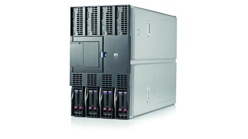 HP BL890c i2: Blade-Server in der Draufsicht. (Quelle: Hewlett Packard)