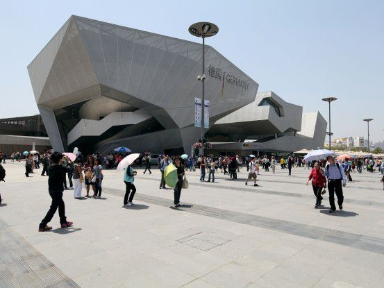 Der deutsche Pavillon auf der Weltausstellung in Shanghai.