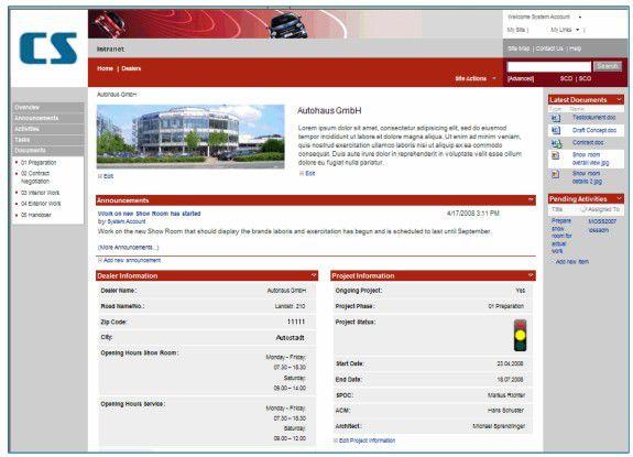 Ein Web-basierendes Projektinformationssystem auf Basis von SharePoint hat Campana & Schott realisiert.