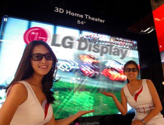 Groß und bunt - 3D-Display von LG mit 84 Zoll Diagonale.