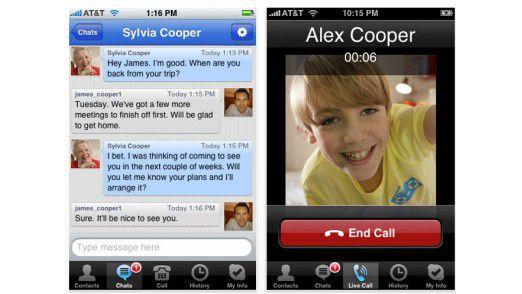 Skype fürs iPhone 2.0 Quelle: Skype