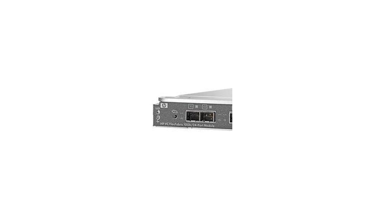Das neue VirtualConnect FlexFabric-Modul verbindet 24 Server über Ethernet, iSCSI oder Fibre Channel mit anderen Systemen (Bild: HP)