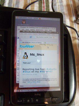 Ubuntu auf dem HTC HD2. Foto: HTC_Linux