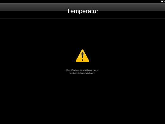 Während der ICE schon bei 32 Grad streikt, nimmt sich Apples Hightech-Spielzeug erst bei 36 Grad Hitzefrei.