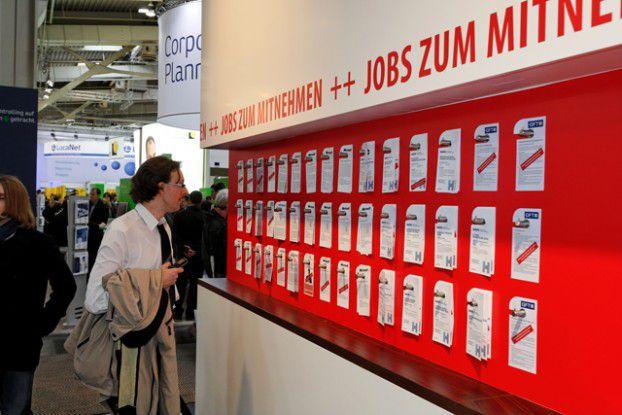 Jobs,Jobs, Jobs: Die Aussteller im Karrierezentrum auf der CeBIt haben über 5000 offene Stellen im Gepäck.