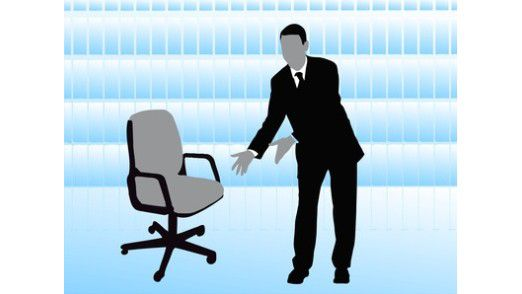 Sitzen Sie gut? Manchmal sägt der Provider am Beziehungsstuhl.