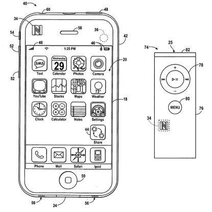 Patent-Anmeldung aus dem Jahr 2009: iPod, iPhone und andere Geräte kommunizieren via NFC.