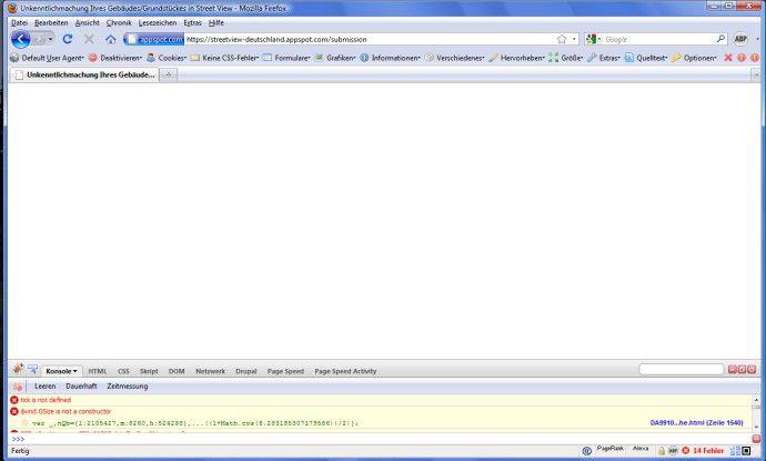 Firefox-User sahen bei unseren Tests ebenfalls eine Fehlermeldung.